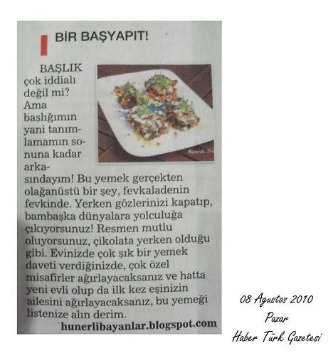 Haber Türk Gazetesi (08.08.2010)