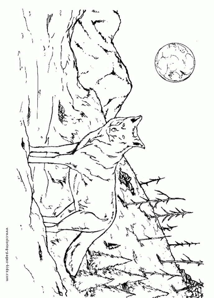 Get This Free Printable Wolf Coloring Pages 90317