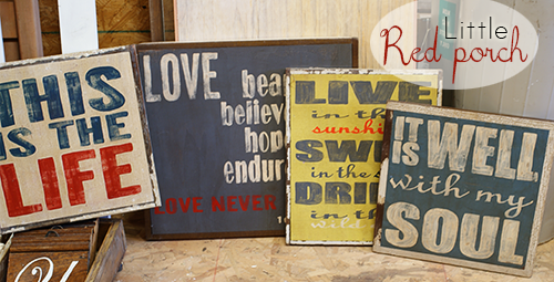 by Red How make to signs distressed Porch rustic  ideas signs wood Little @savedbyloves