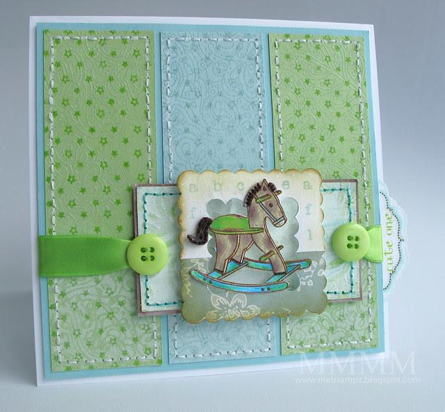Caardvarks C&S rock-a-bye quilt card mel stampz