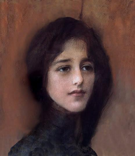 Retrato académico por el pintor polaco Axentowicz.