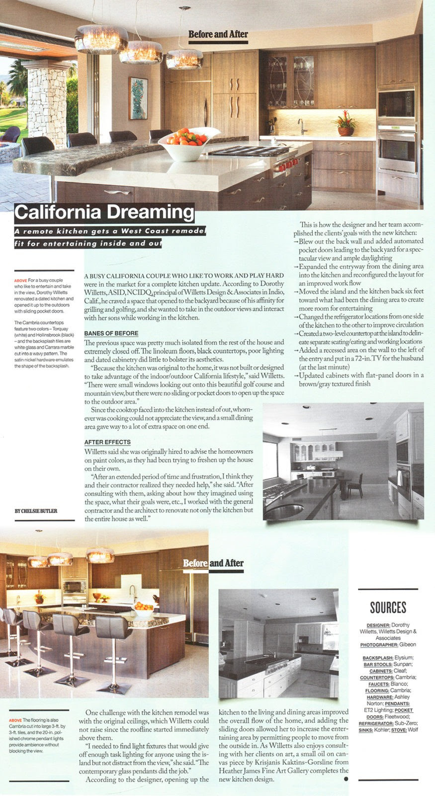 Kitchen Bath Business California Dreaming Willetts Design