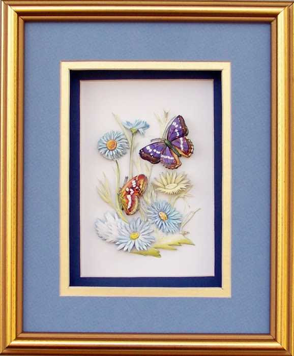 Special Gold Shadow Box Frame Size 8x10 With Free Paper Tole Kit 2667