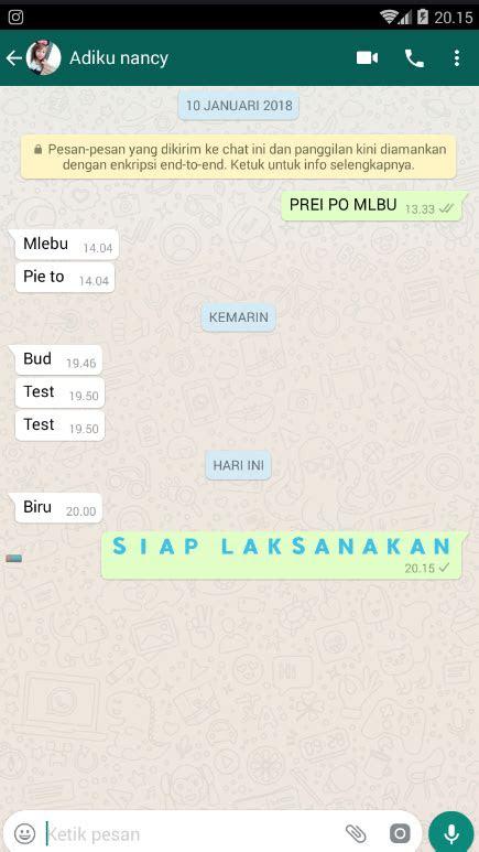 membuat teks  whatsapp menjadi warna biru