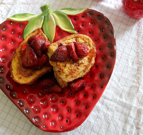 Orange Mango French Toast with Honey Roasted Strawberry Compote 3