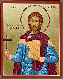 Der heilige Protomärtyrer Alban (†304)