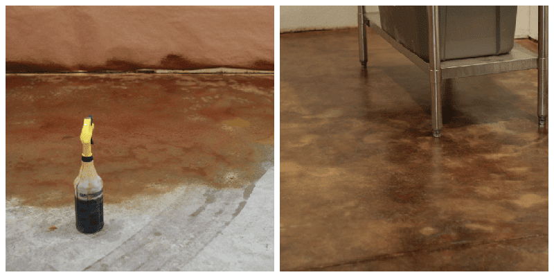 acid stain before after