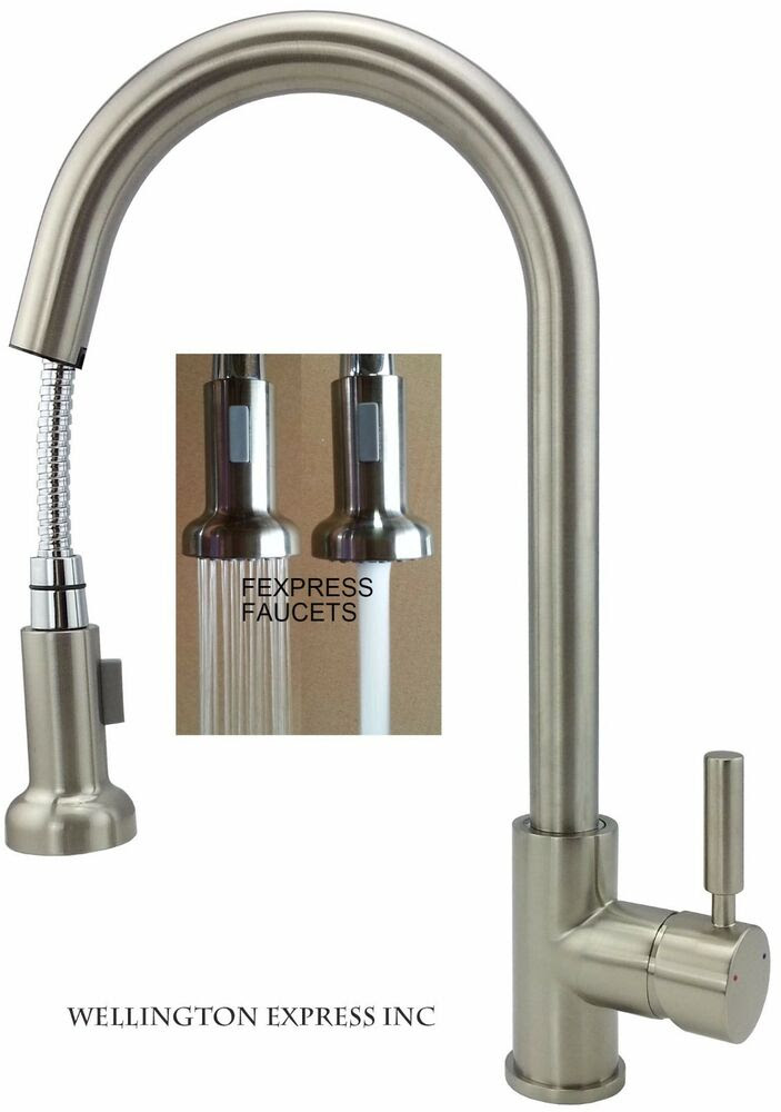 Kitchen Sink Faucet Pull Out Sprayer Single Handle Single ...