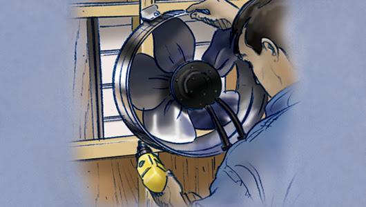 Instrucciones paso a paso para instalar un ventilador en el ático