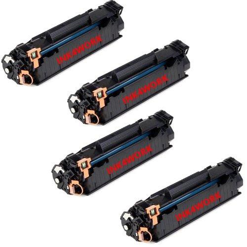 4 Pack Ink4work C3500b001aa 128 Black Compatible Toner Cartridge
