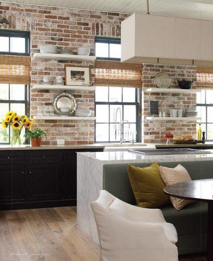 Bricks In The Interior Of The Kitchen Modern Home Design And Decor
