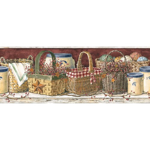 country kitchen wallpaper border Primitive, Vintage and ...