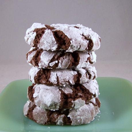 Fudge Crinkles Cookies made with cake mix