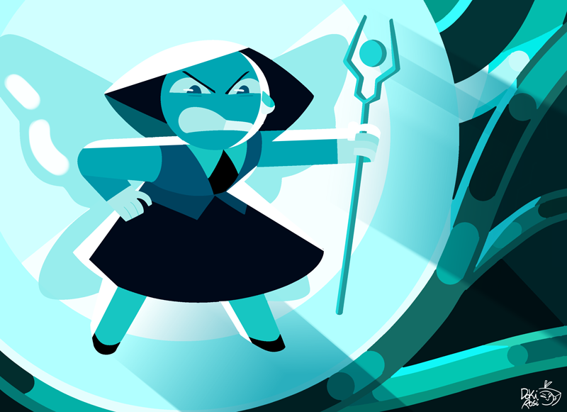 "Aquamarine 💧 ""that's the problem with you fusions… sooner or later you all get… sentimental"""