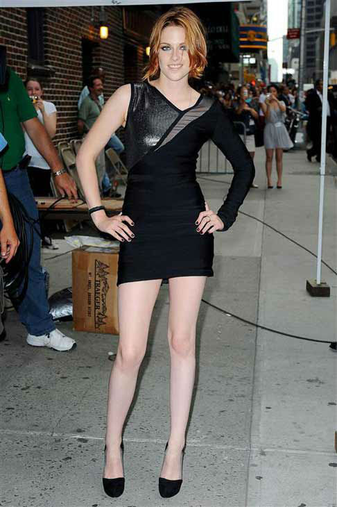 Kristen Stewart appears at a taping of 'The Late Show with David Letterman' in New York City on June 28, 2010.