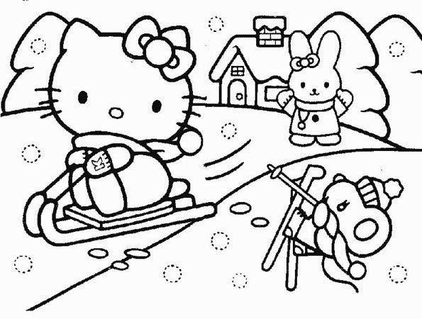 Coloriage Hello Kitty 3 Momesnet