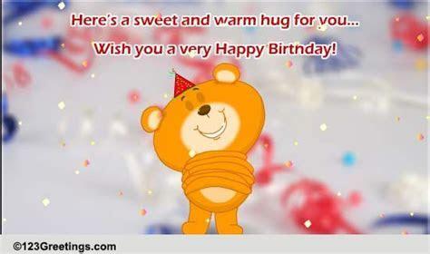Sweet And Warm Hug  Free Happy Birthday eCards, Greeting