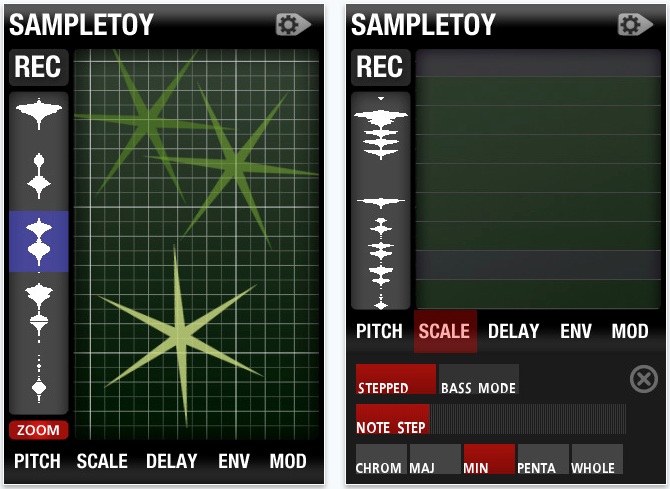 Sampletoy for iPhone, iPod touch, and iPad