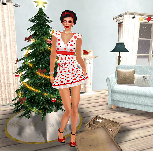 Decorating the Tree- the pose after
