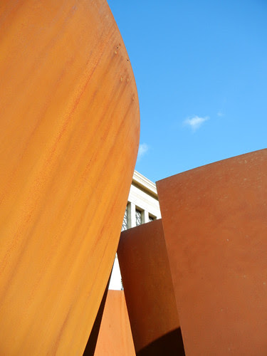 Steel Sculpture by Richard Serra, Cantor Arts Center, Stanford University _ 8388