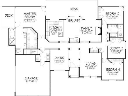 Trends For 4 Bedroom Floor Plan Bungalow House Design Photos