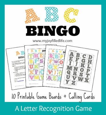 Free Printable ABC Games - Bingo & Memory   Free Homeschool Deals ©