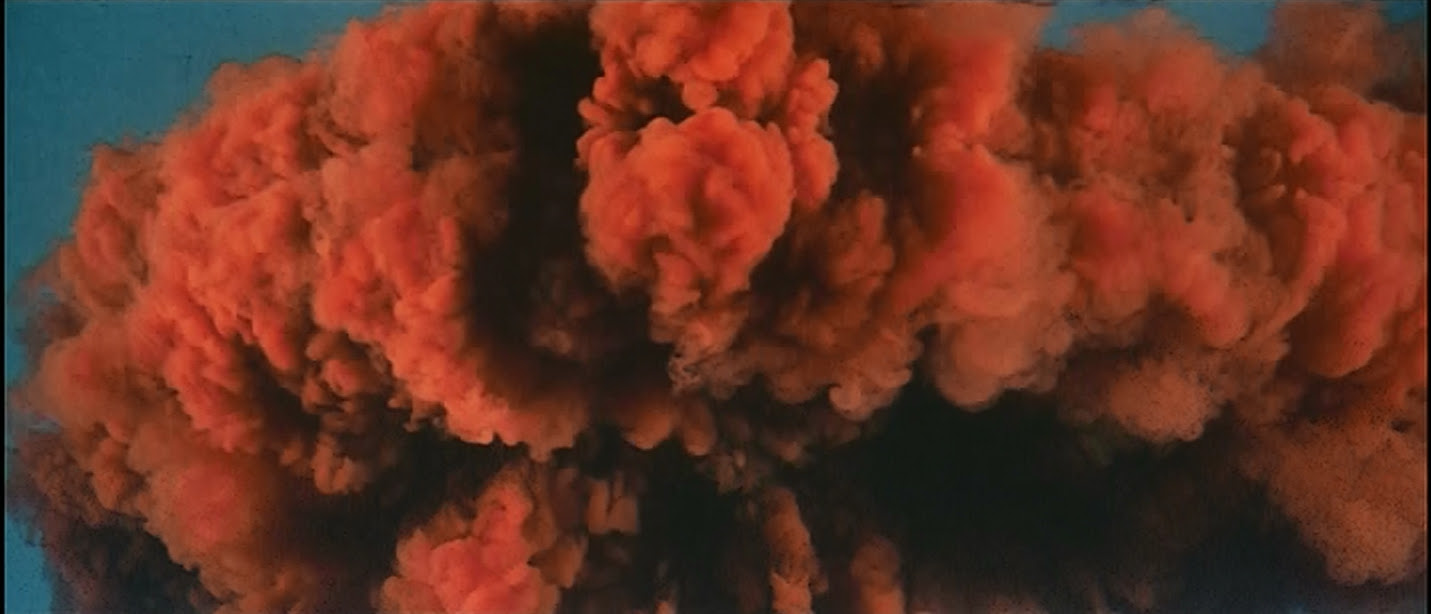 And an impressive approximation of a mushroom cloud.