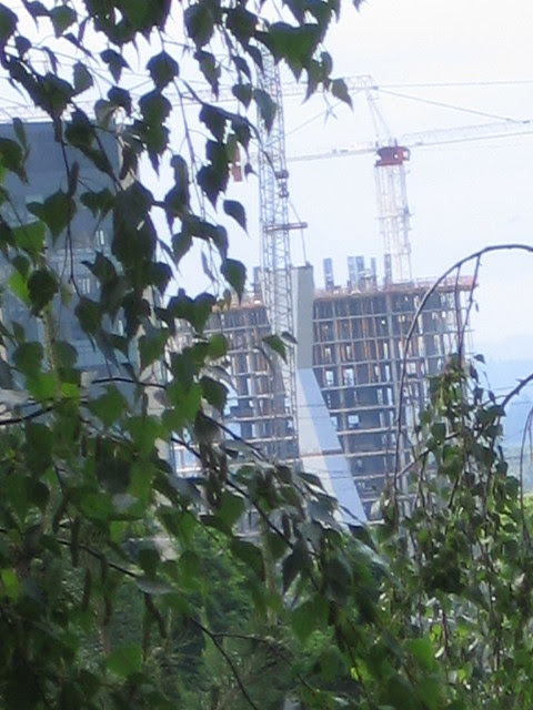 tram tower construction, 6-22-06