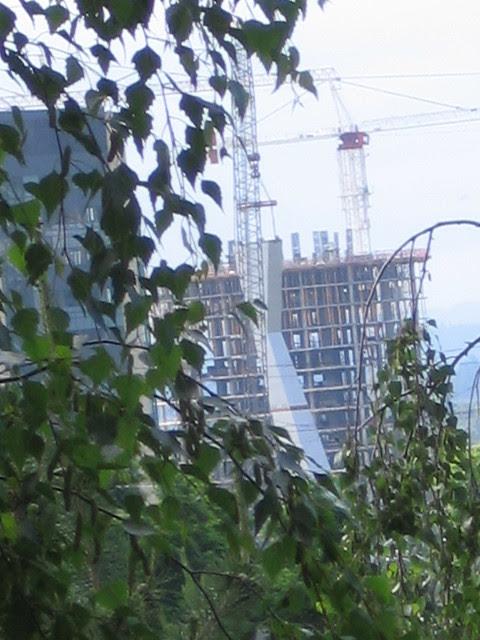 tram tower construction, 6-22-06
