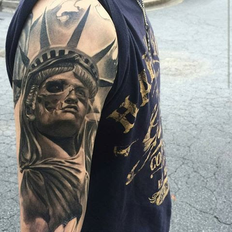 92 Unique Statue Of Liberty Tattoos And Meanings For Guys Parryzcom