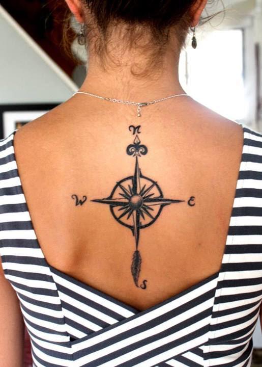 Hand Drawn Compass Tattoo Best Tattoo Design Ideas
