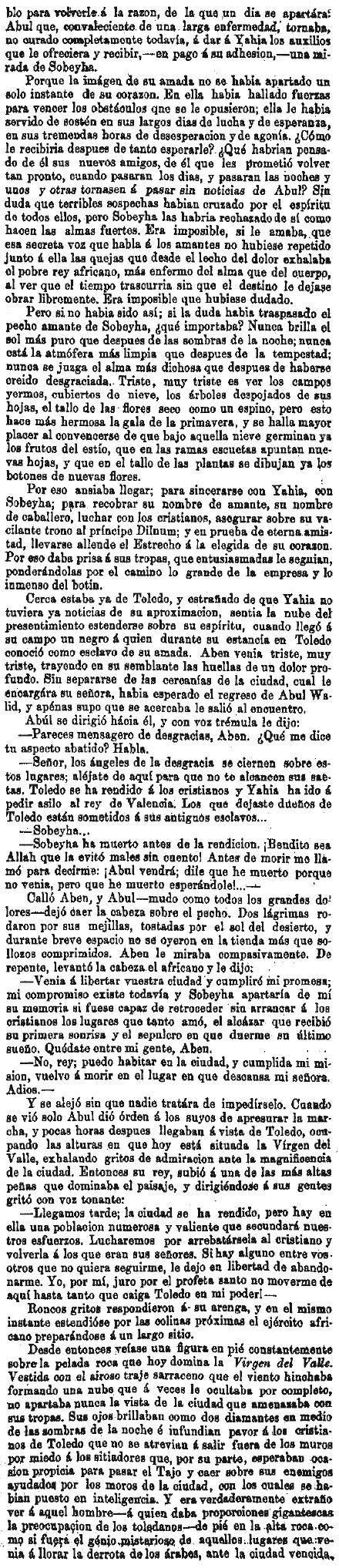 Leyenda de La Peña del Moro publicada en La Amérca por Eugenio de Olavarria y Huarte. Página 17