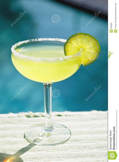 Salted Margarita Poolside Stock Photo   Image: 593990