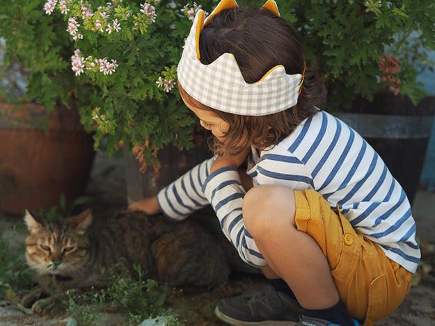 3. Корона из ткани дети, поделки, своими руками, сделай сам, творчество