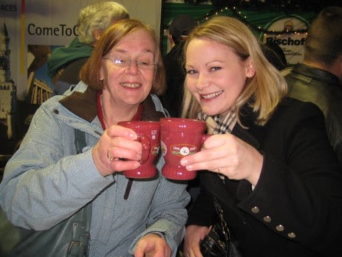 mom and me with Gluehwein