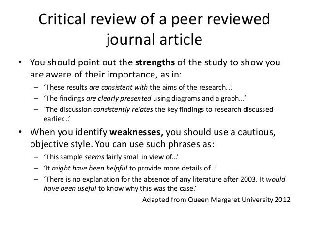 how to write a critical essay on an article