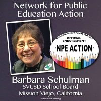 Barbara Schulman for SVUSD Board of Education