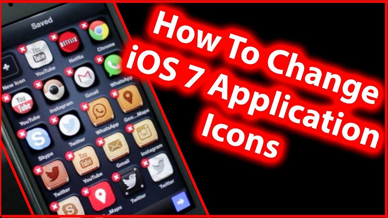 How To Change iOS 7 App Icon Design - iPhone 5s/5c/5, iPad ...