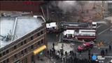 Raw: Baltimore firefighters put out blaze at looted CVS
