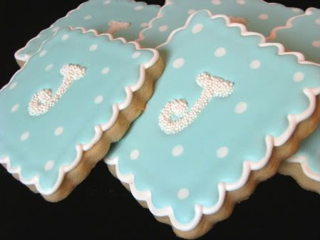 j monogram cookies side