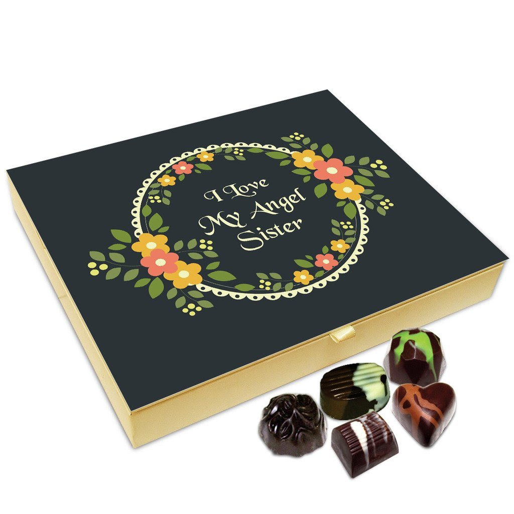 DEALS ON Chocholik Raksha Bandhan Gift Box - I Love My Angel Sister Chocolate Box For Sister - 20pc