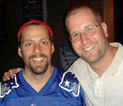 Jason Miller of Rusted Root with Rabbi Jason Miller