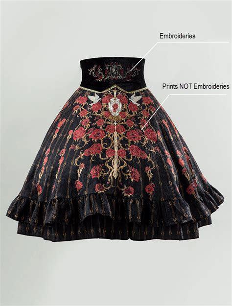 lost angel spirit  knight embroidery high waist lolita skirt