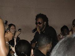 dwele singing in the crowd