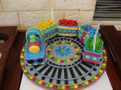 Train Birthday Cake On I Made This For My Son S 4th