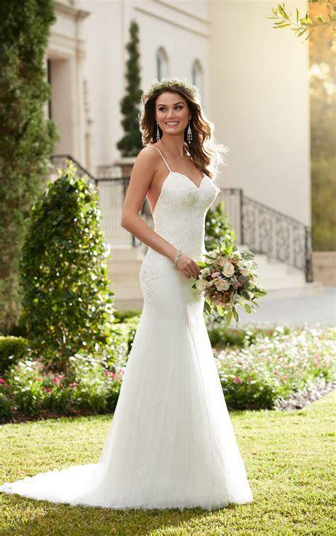 Sheath Wedding Dress with Low Back   Stella York