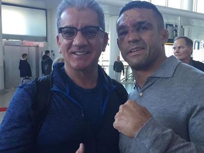 Bruce Buffer, Vitor Belfort, UFC 204, MMA (Foto: Reprodução/Instagram)