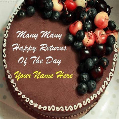 Birthday Chocolate Cake Images With Name Editor   Ideas