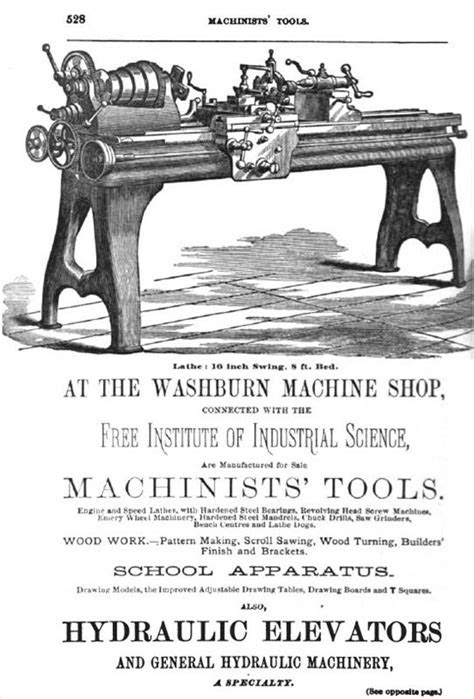 "Washburn Shops - 1880 Ad-Washburn Machine Shop 16"" Engine"
