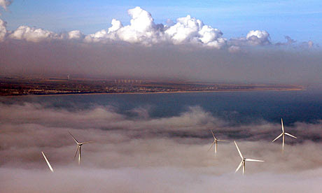 A wind farm at Scroby Sands off East Anglia